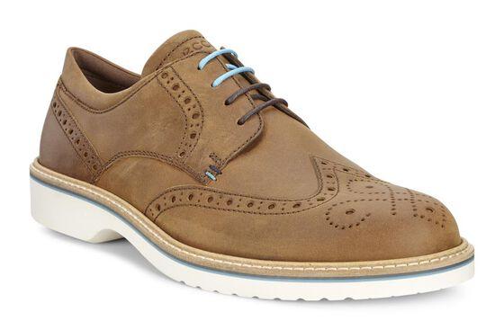 Chaussure lacée ECCO Ian à bout golf (CAMEL)