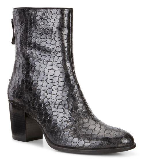 ECCO Shape 55 Trend Boot (BLACK-BUFFED SILVER)