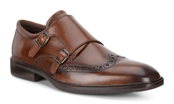 ECCO Illinois Monk Strap (WALNUT)