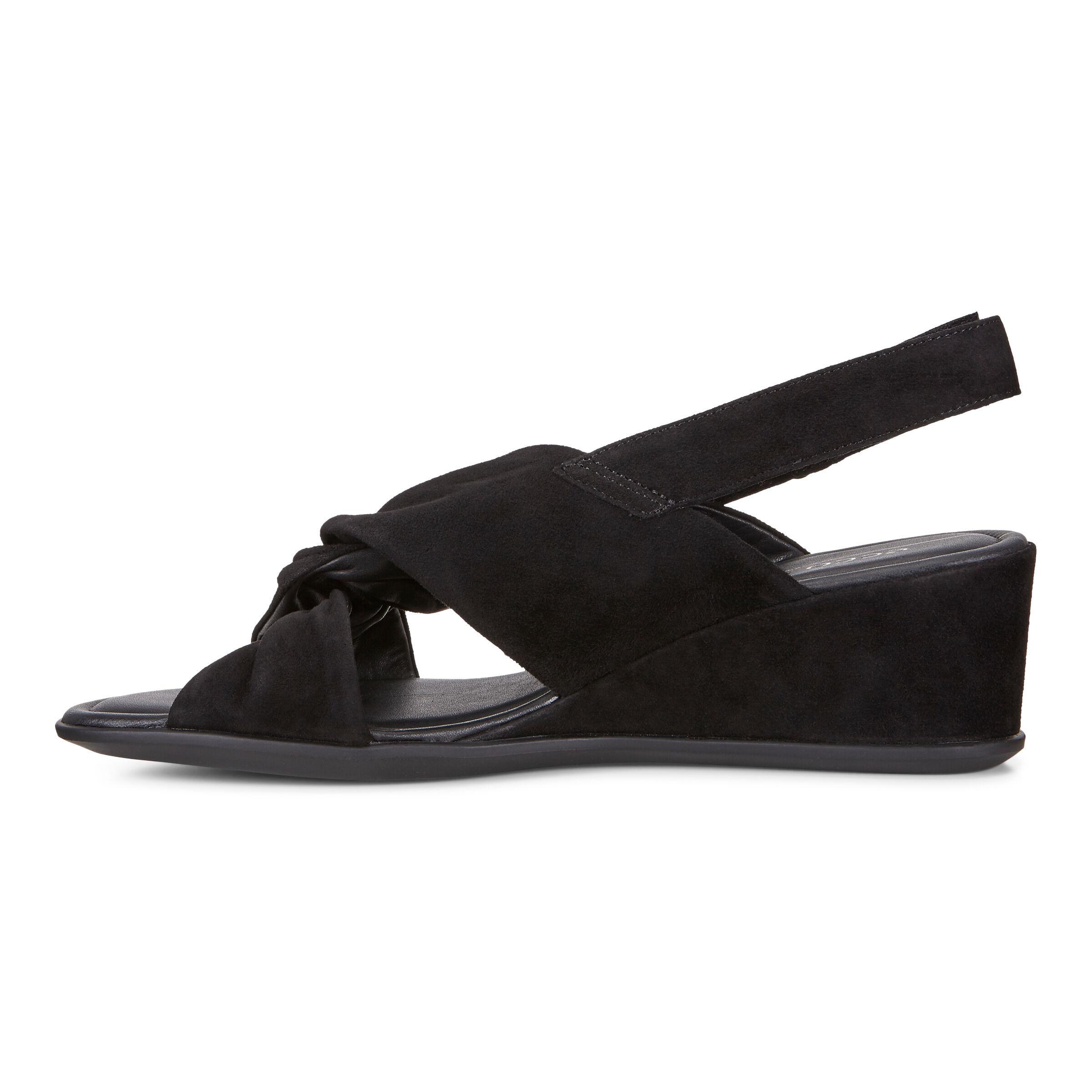 Shape 35, Sandales Bout Ouvert Femme, Noir (Black), 38 EUEcco