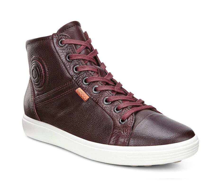 ECCO Womens Soft 7 High TopECCO Womens Soft 7 High Top BORDEAUX (01070) ...