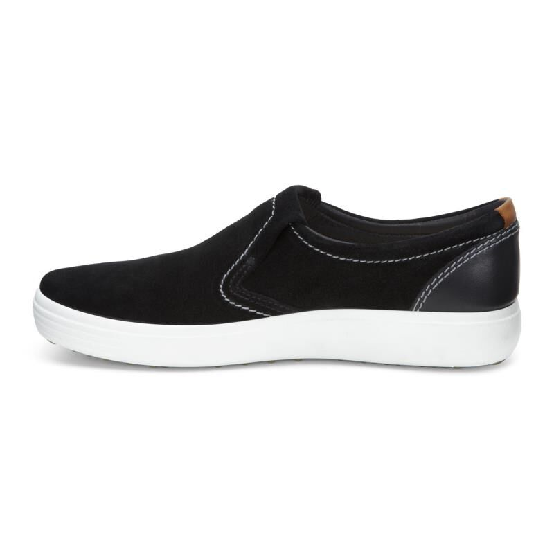 ... ECCO Mens Soft 7 Slip OnECCO Mens Soft 7 Slip On BLACK/BLACK (53859 ...