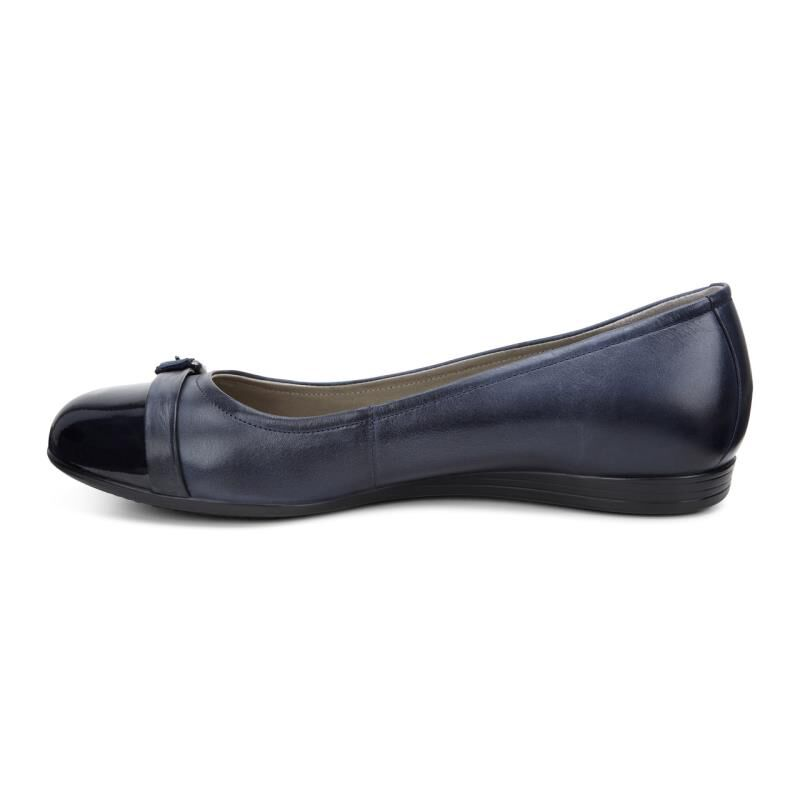 Womens Shoes ECCO Touch 15 Scale Ballerina Marine/Navy/Marine