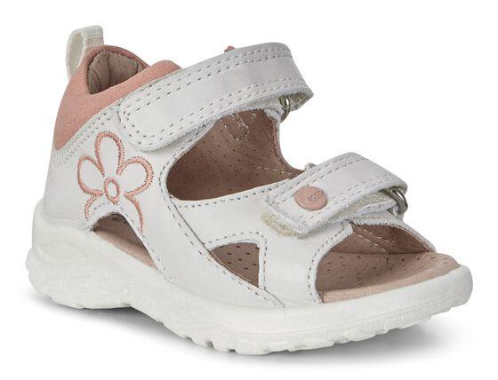 ECCO Peekaboo Infants Sandal (WHITE/MUTED CLAY)