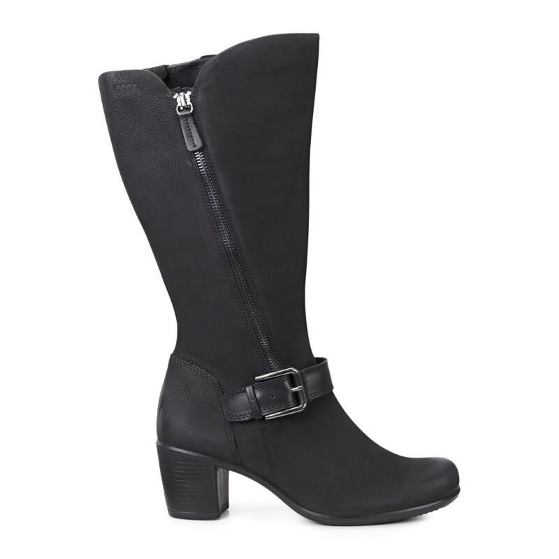 ... ECCO Touch 55 Tall Buckle BootECCO Touch 55 Tall Buckle Boot BLACK/BLACK  (51052 ...