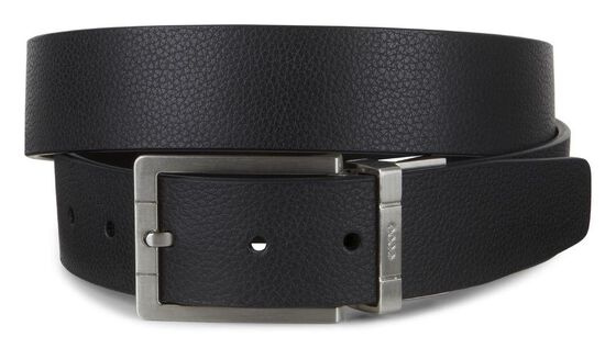 ECCO Evry Formal Mens Belt (BLACK/COFFEE)