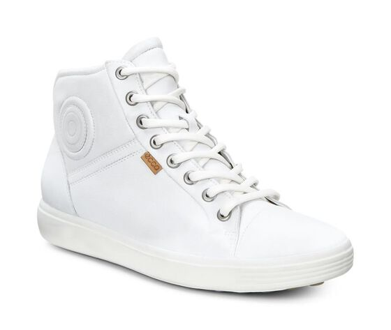 ECCO Womens Soft 7 High Top (WHITE)
