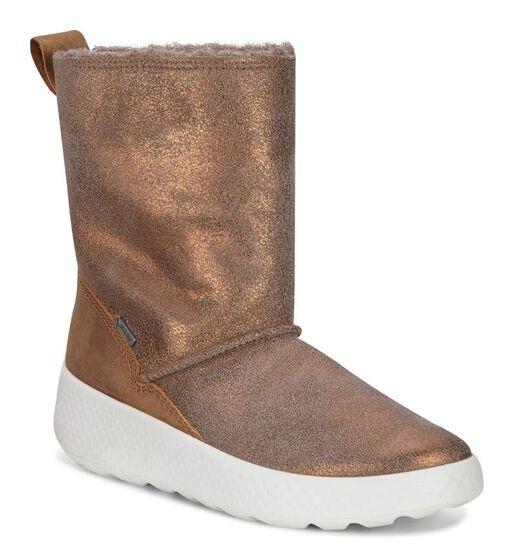 ECCO Ukiuk Kids Boot (WARM GREY/CAMEL)