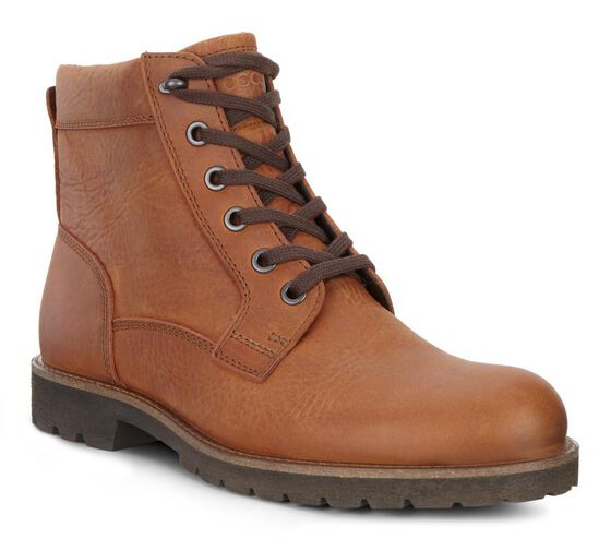 ECCO Jamestown Lace Boot (AMBER)