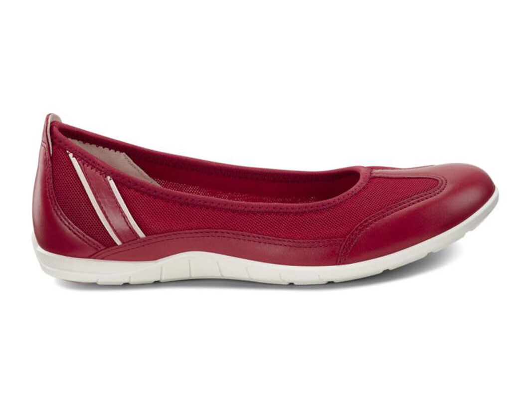 Womens Shoes ECCO Bluma Summer Ballerina Chili Red