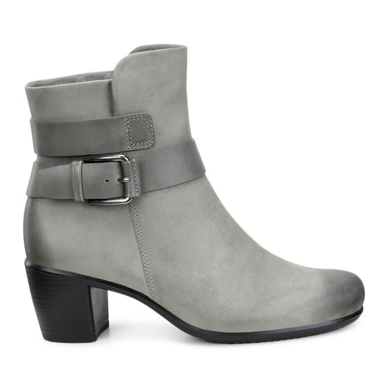 Ecco Touch 55 Mid Cut Womens Grey Boots