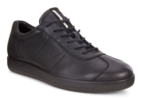 ECCO Mens Soft 1 Sneaker (BLACK)