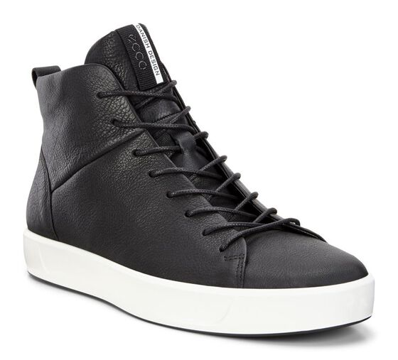 ECCO Mens Soft 8 High Top (BLACK)