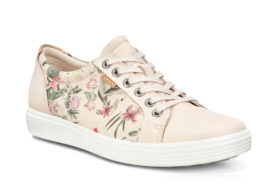 ECCO Womens Soft 7 Sneaker (MULTICOLOR/LIMESTONE/POWDER)