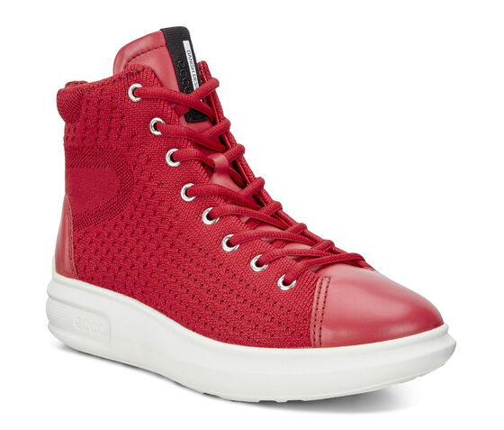 ECCO Soft 3 High Top (CHILI RED/CHILI RED)