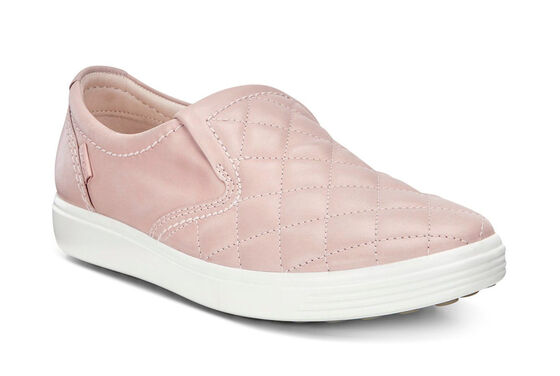 Slip-on ECCO Soft 7 matelassé (ROSE DUST/ROSE DUST)