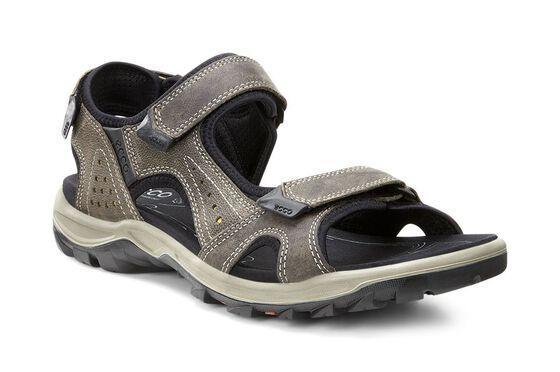 ECCO Mens Cheja Offroad Sandal (WARM GREY/OLIVE OIL)