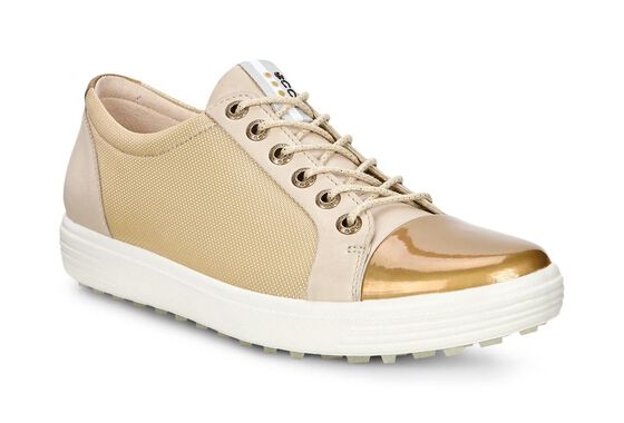 ECCO Womens Golf Casual Hybrid Metallic (OYESTER/GOLD)
