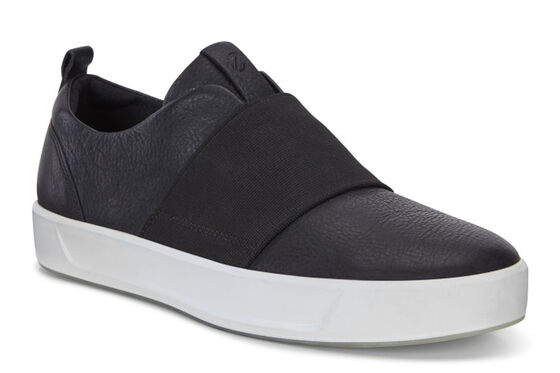 ECCO Womens Soft 8 Band Sneaker (BLACK)