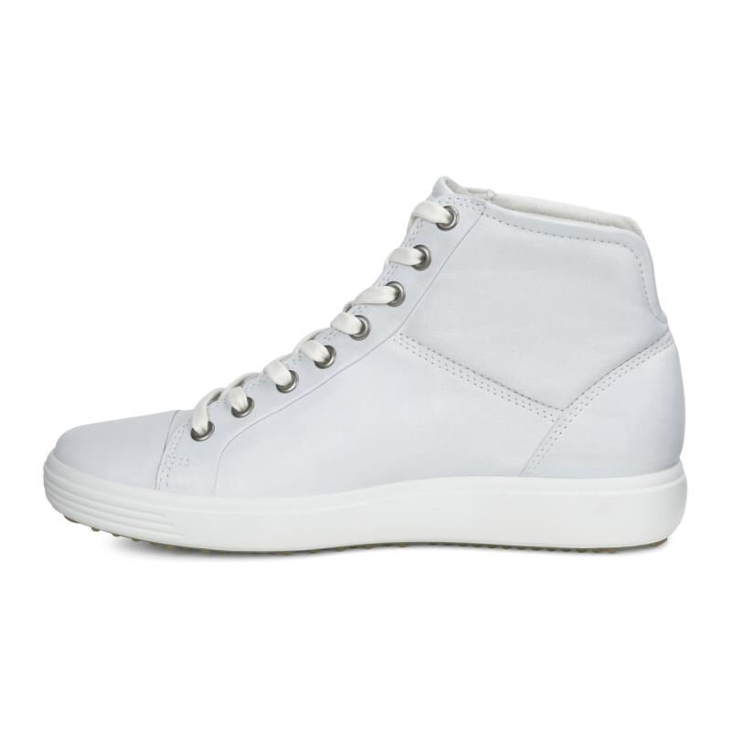 ... ECCO Womens Soft 7 High TopECCO Womens Soft 7 High Top WHITE (01007) ...