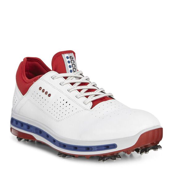 ECCO Golf Cool 18 GTX pour hommes (WHITE/TOMATO)