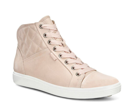 ECCO Soft 7 Quilted High Top (ROSE DUST/ROSE DUST)