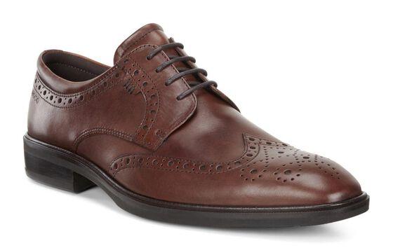 Chaussure lacée à bout rapporté ECCO Illinois (COGNAC)