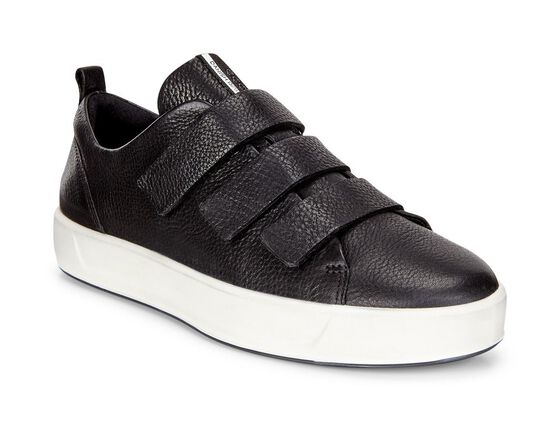 ECCO Womens Soft 8 Strap Sneaker (BLACK)