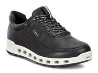 ECCO Womens Cool 2.0 GTX Leather Sneaker (BLACK)