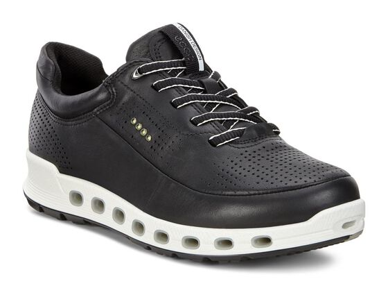 ECCO Womens Cool 2.0 GTX Leather Sneaker (BLACK)